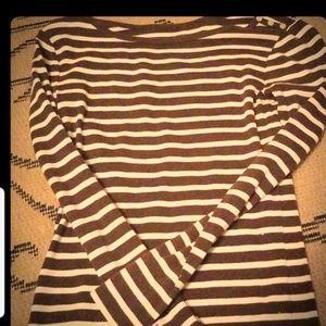 Striped Gap boatneck top